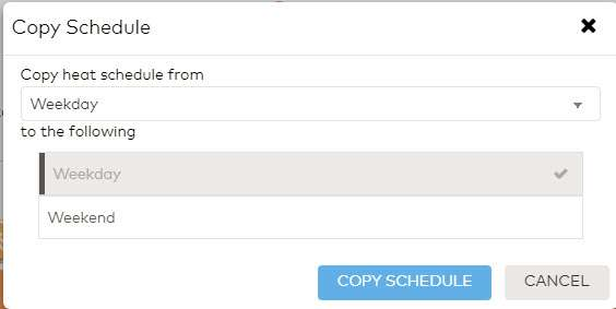 Copy schedule box