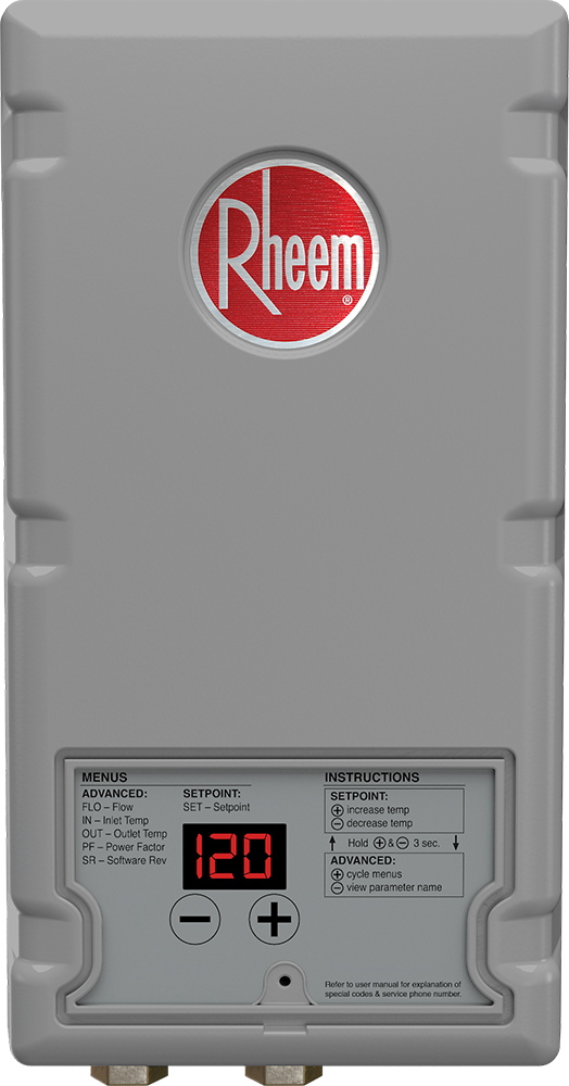 Rheem Thermostatic Tankless Electric Water Heater