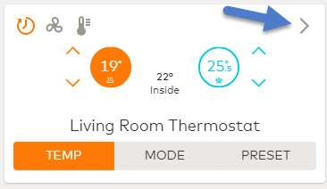 Thermostat app card
